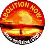 """Autocollant """"Armes nucléaires : STOP"""""""