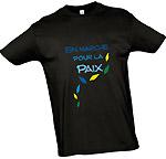 """Tee-shirt homme """"En marche pour la paix"""""""