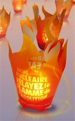 "Photophore ""La flamme de l'Abolition"""