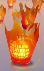 """Photophore """"La flamme de l'Abolition"""""""
