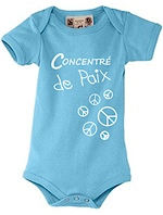 Body bleu pour bb