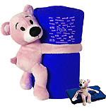 Ours en peluche avec couverture polaire (bleu)