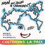 Autocollant &quot;Cultivons la Paix&quot;