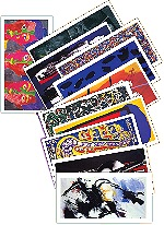 Lot de 6 cartes doubles Bannires de la Paix