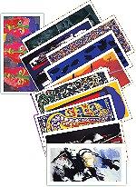 Lot de 10 cartes doubles Bannières de la Paix