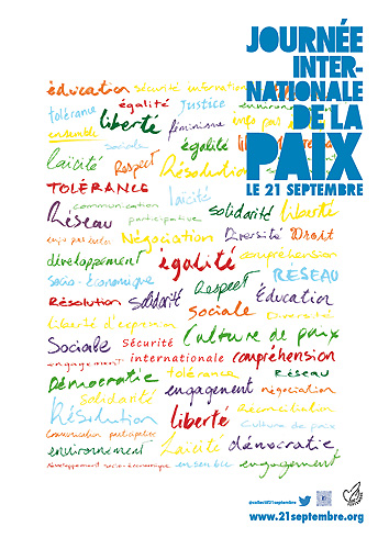 L'affiche de la Journée internationale de la Paix 2015