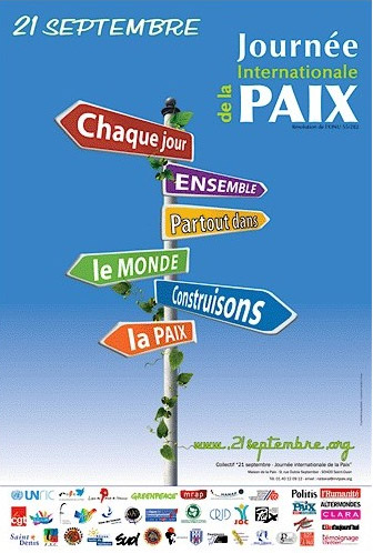 L'affiche de la Journée internationale de la Paix 2012
